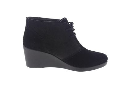 CROCS Stiefelette -  Leigh Suede Wedge Shootie - black preview 4