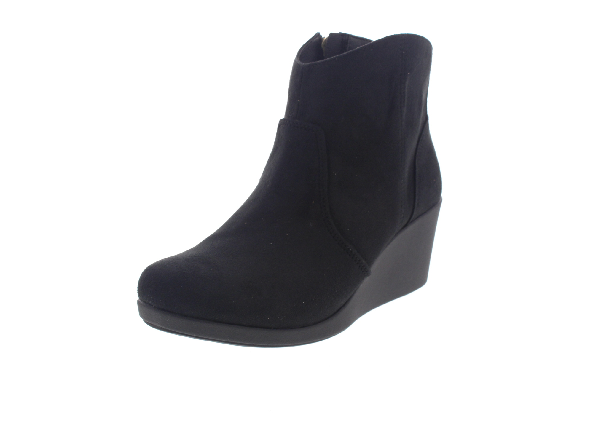 CROCS Stiefeletten Leigh Synth Suede Wedge Bootie black-0