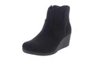 CROCS Stiefeletten Leigh Synth Suede Wedge Bootie black-0 001