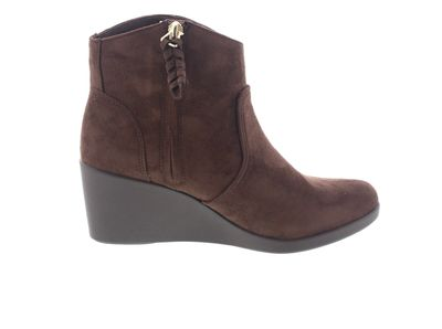 CROCS Damen - Leigh Synth Suede Wedge Bootie espresso preview 4