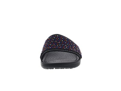 CROCS Pantoletten SLOANE Embellished Slide black multi preview 3