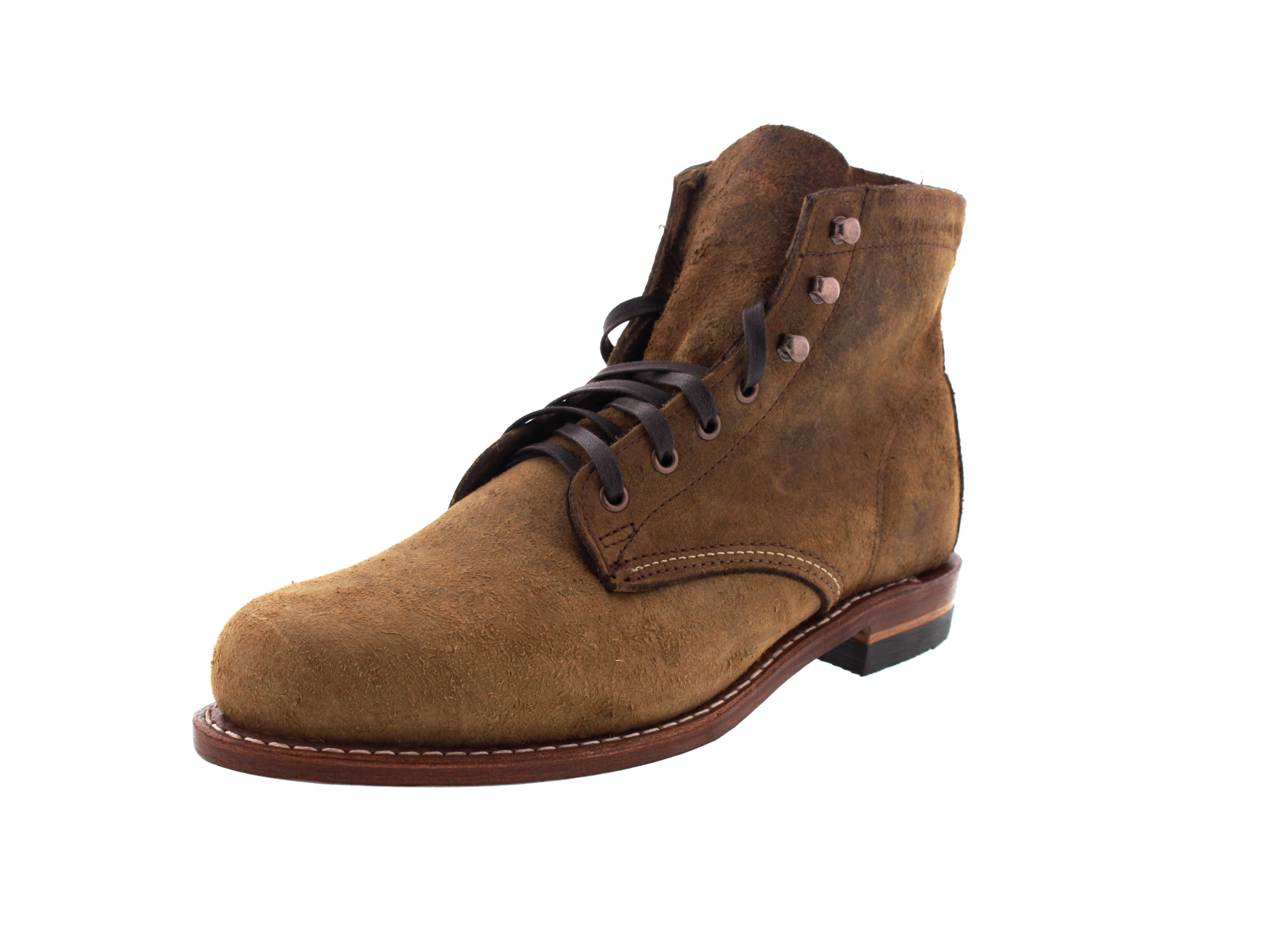 WOLVERINE 1000 Mile Premium-Boots 1000 Mile brown waxy-0