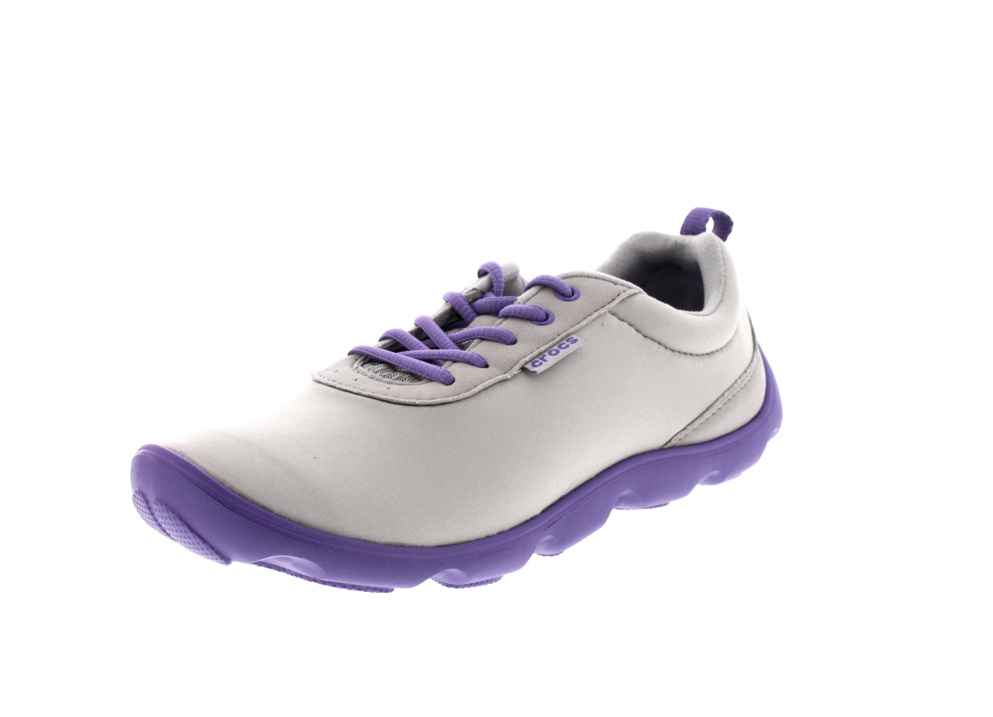 CROCS Damen - DUET BUSY DAY LACE UP - light grey violet0