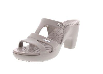 CROCS Damenschuhe - Pantolette CYPRUS V HEEL - platinum