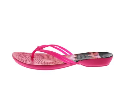 CROCS Schuhe ISABELLA GRAPHIC FLIP candy pink tropical preview 2