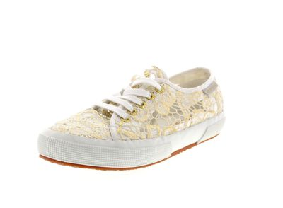 SUPERGA - Sneakers MACRAMEMETW 2750 - white gold