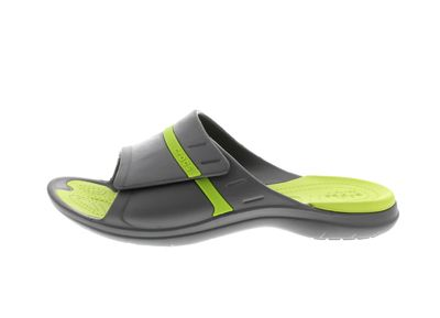 CROCS Pantoletten MODI SPORT SLIDE graphite volt green preview 2