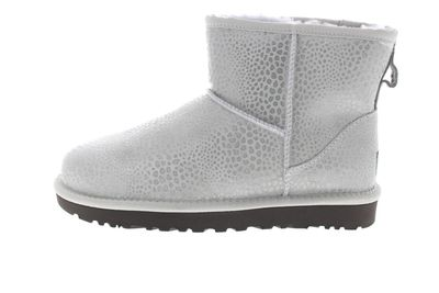 UGG Damen Stiefeletten CLASSIC MINI GLITZI grey violet preview 2