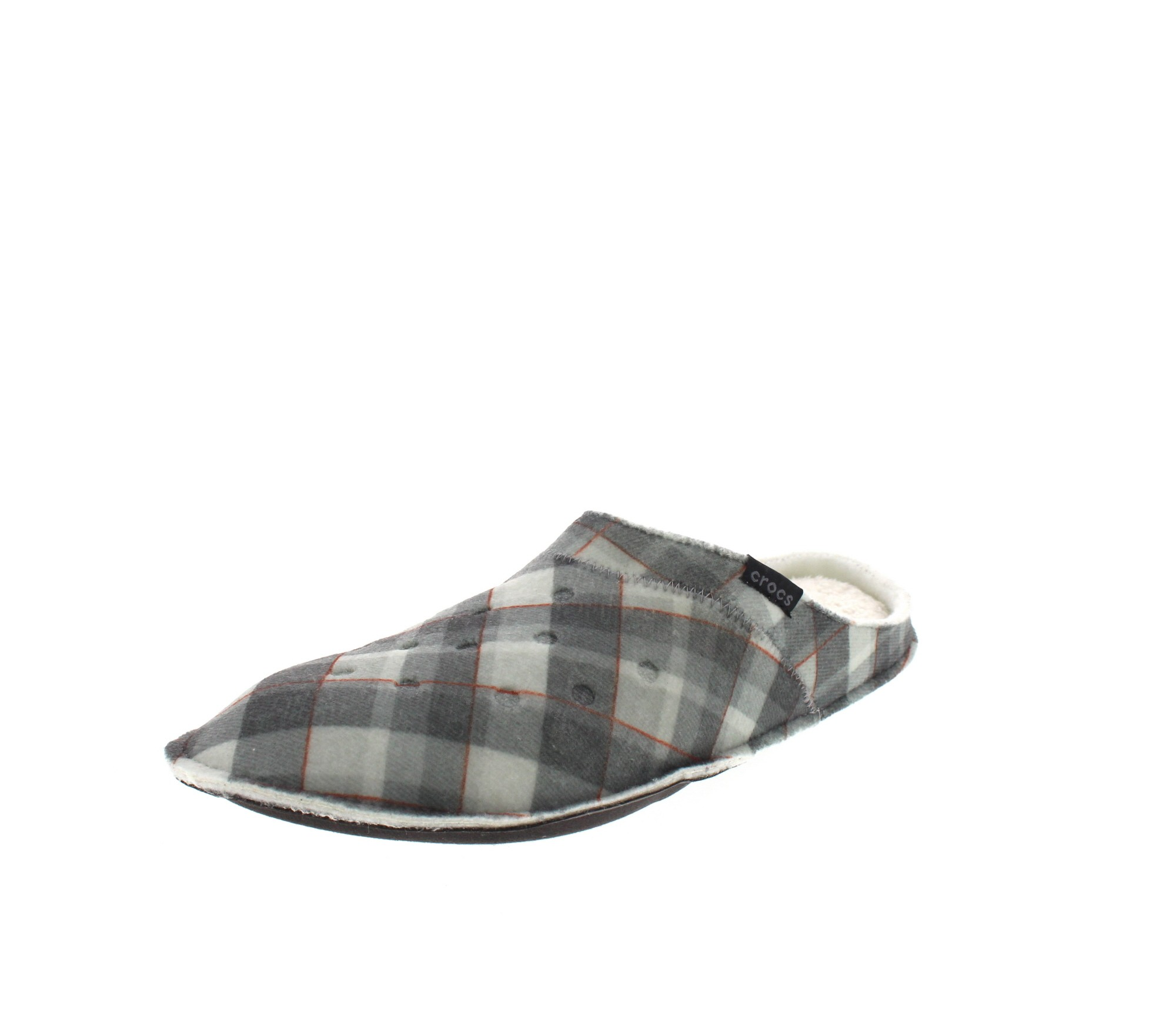 CROCS Hausschuhe - CLASSIC PLAID SLIPPER - black oat_5