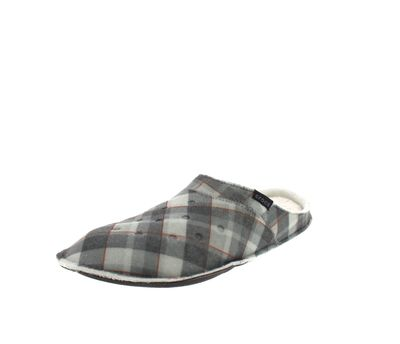CROCS Hausschuhe - CLASSIC PLAID SLIPPER - black oat