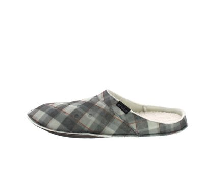 CROCS Hausschuhe - CLASSIC PLAID SLIPPER - black oat preview 2