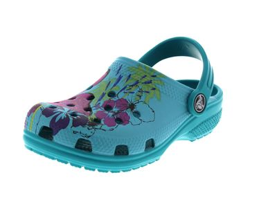 CROCS Kinderschuhe - CLASSIC GRAPHIC CLOG - turquoise preview 1