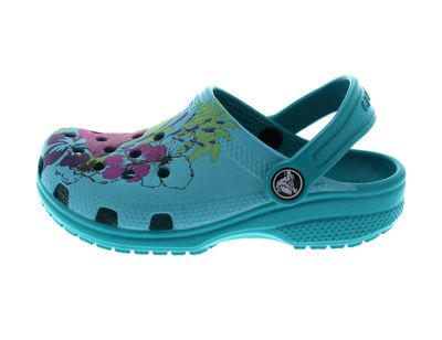CROCS Kinderschuhe - CLASSIC GRAPHIC CLOG - turquoise preview 2