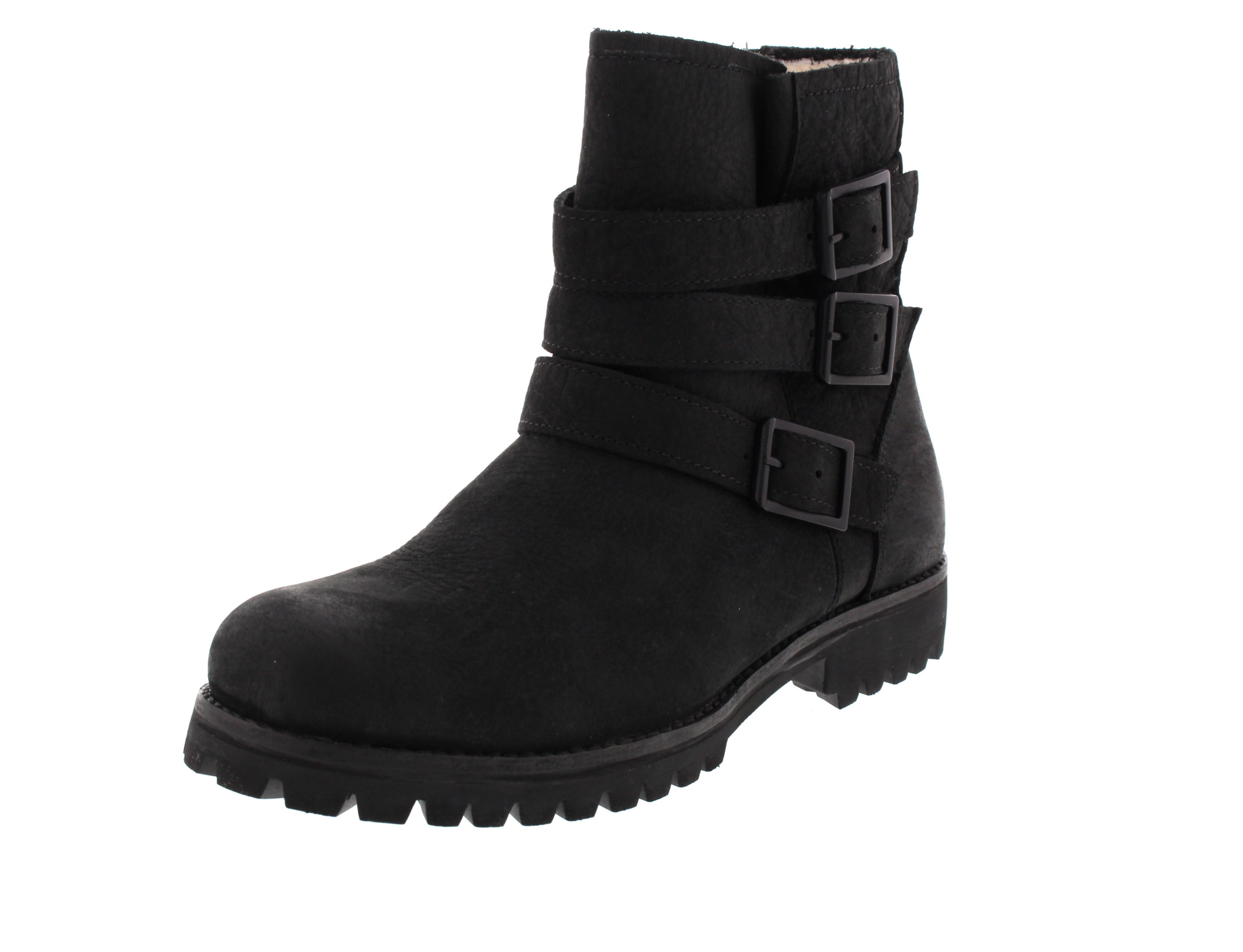 BLACKSTONE Damenschuhe HIGH BOOT BUCKLE FUR OL14 black_0