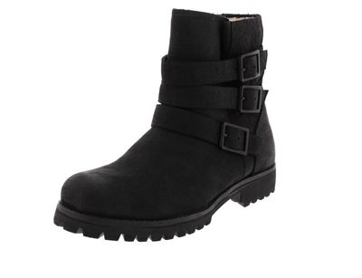 BLACKSTONE Damenschuhe HIGH BOOT BUCKLE FUR OL14 black