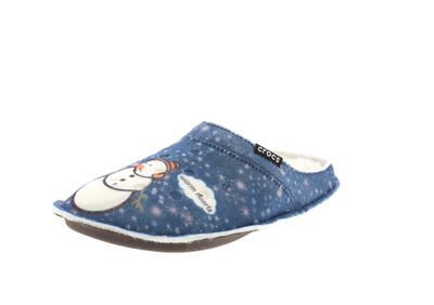 CROCS Hausschuhe - CLASSIC GRAPHIC SLIPPER - navy