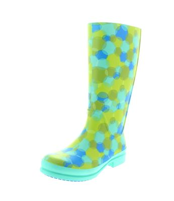 CROCS - Gummistiefel WELLIE POLKA DOT BOOT island green
