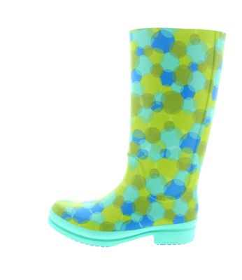 CROCS - Gummistiefel WELLIE POLKA DOT BOOT island green preview 2