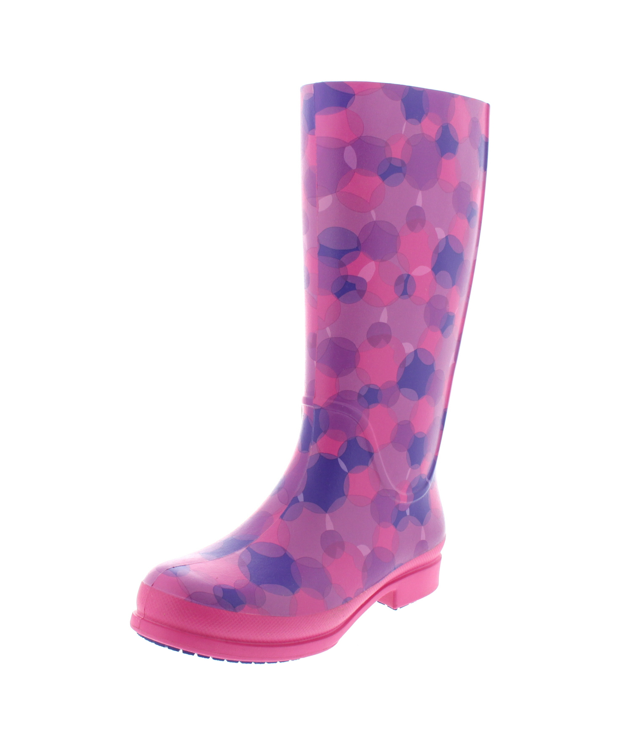 CROCS - Gummistiefel WELLIE POLKA DOT BOOT - fuchsia_0