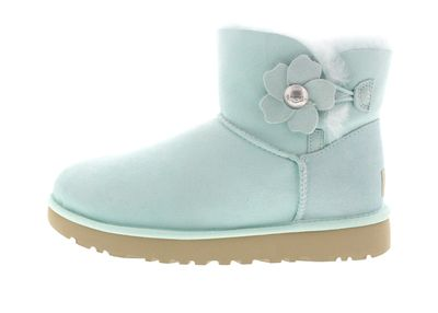 UGG Damenschuhe - MINI BAILEY BUTTON POPPY - aqua preview 2