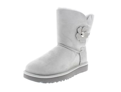 UGG Damenschuhe Stiefel BAILEY BUTTON POPPY grey violet