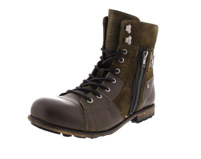 YELLOW CAB Herrenschuhe - Boots INDUSTRIAL 18069 green