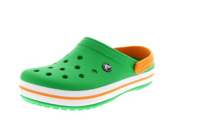 CROCS - Clogs CROCBAND grass green white blazing orange