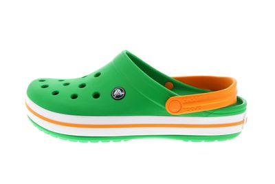 CROCS - Clogs CROCBAND grass green white blazing orange preview 2