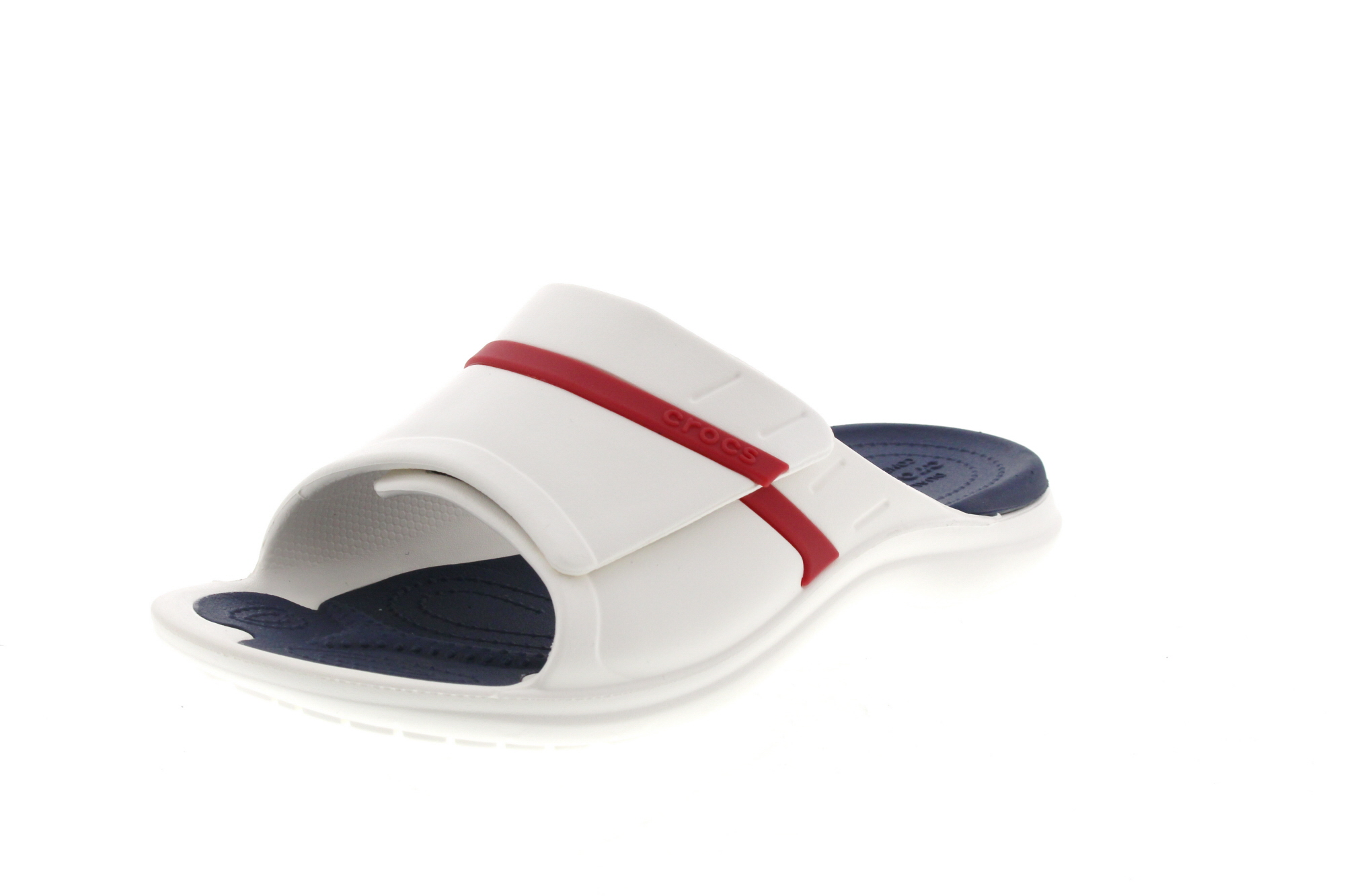 CROCS - Pantoletten MODI SPORT SLIDE white navy pepper_0