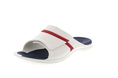 CROCS - Pantoletten MODI SPORT SLIDE white navy pepper
