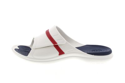 CROCS - Pantoletten MODI SPORT SLIDE white navy pepper preview 2