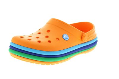 CROCS - Clogs CROCBAND RAINBOW BAND - blazing orange