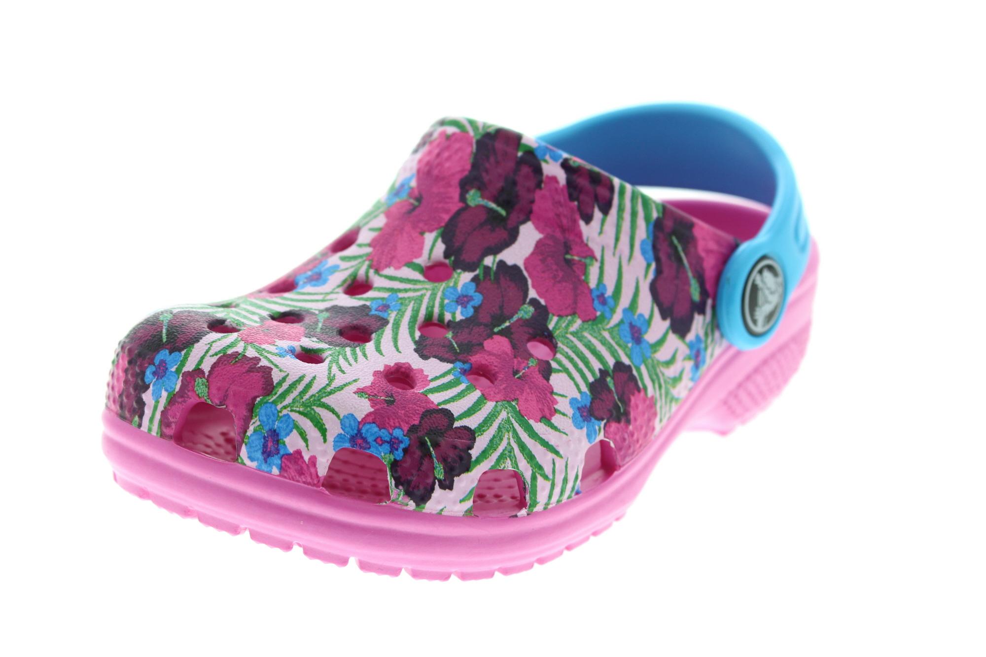 CROCS Kinderschuhe CLASSIC GRAPHIC CLOG multicolor pink0-6513
