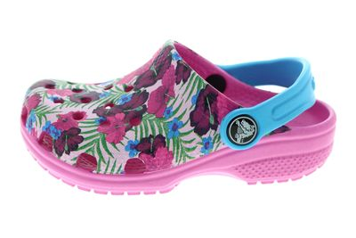 CROCS Kinderschuhe CLASSIC GRAPHIC CLOG multicolor pink preview 2