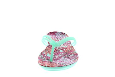 CROCS Zehentrenner ISABELLA GRAPHIC FLIP mint tropical preview 3