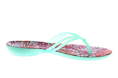 CROCS Zehentrenner ISABELLA GRAPHIC FLIP mint tropical preview 4