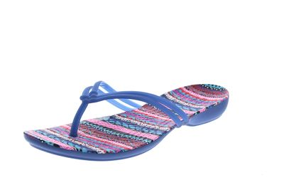 CROCS Zehentrenner ISABELLA GRAPHIC FLIP blue jean geo preview 1