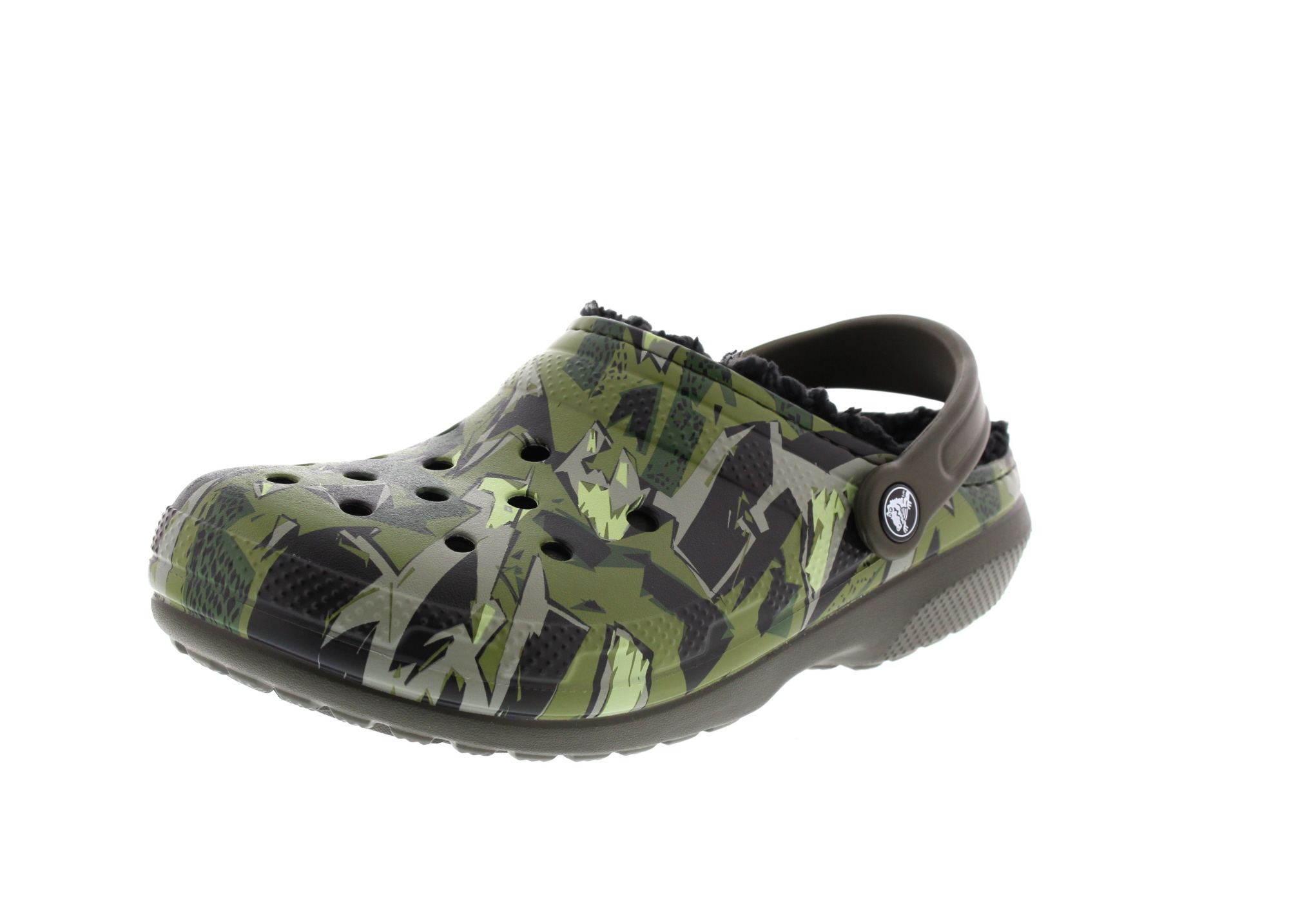 CROCS - CLASSIC LINED GRAPHIC - dark camo green black0-6566