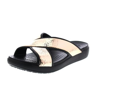 CROCS - SLOANE HAMMERD XStrap Slide - black rose gold
