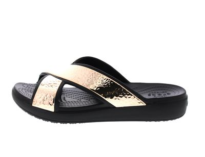 CROCS - SLOANE HAMMERD XStrap Slide - black rose gold preview 2