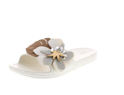 CROCS Pantoletten SLOANE BOTANICAL FLOWER SLIDE oyster preview 1