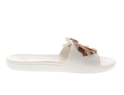 CROCS Pantoletten SLOANE BOTANICAL FLOWER SLIDE oyster preview 4