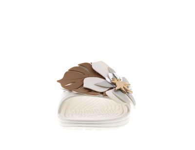 CROCS Pantoletten SLOANE BOTANICAL FLOWER SLIDE oyster preview 3