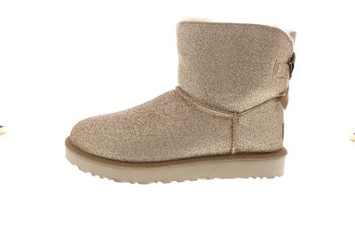 UGG Damenschuhe - Booties MINI BAILEY BOW SPARKLE gold preview 2