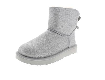 UGG Damenschuhe Booties MINI BAILEY BOW SPARKLE silver