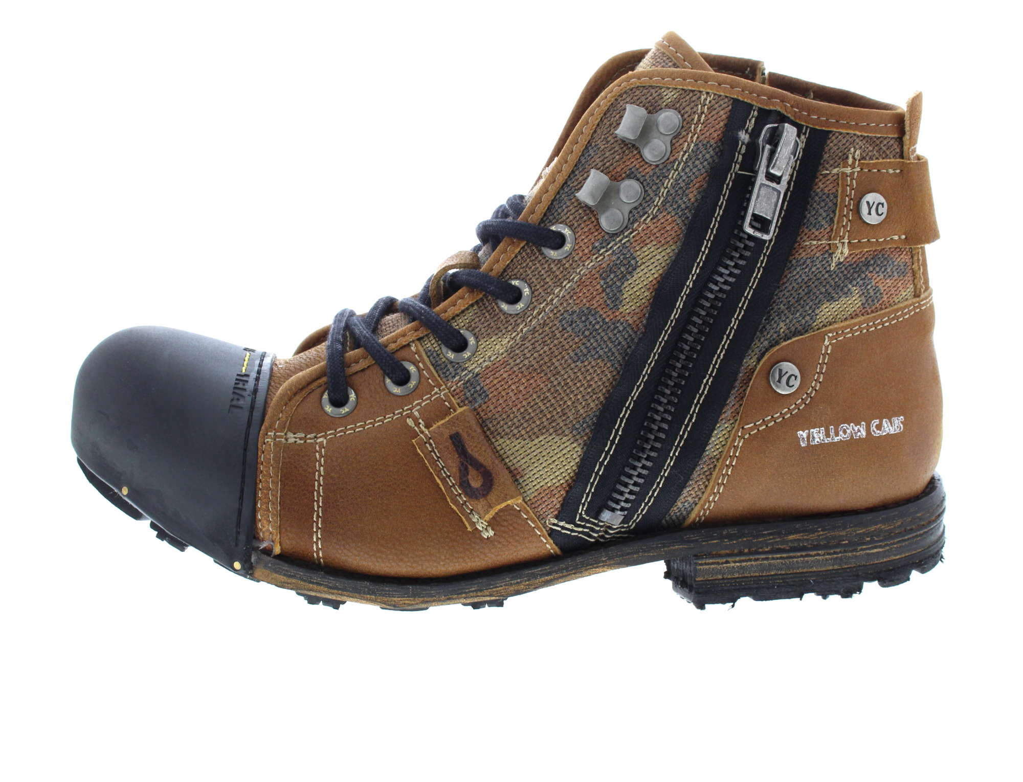 uk availability 0254d 3f07a Details zu YELLOW CAB Herrenschuhe - Boots INDUSTRIAL 15458 - tan
