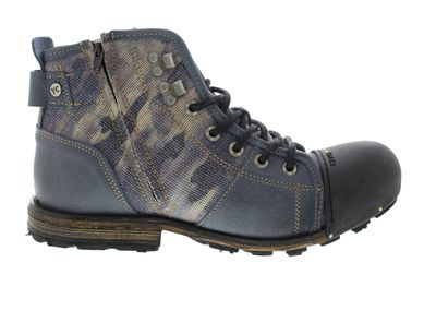 YELLOW CAB Herrenschuhe - Boots INDUSTRIAL 15458 - blue preview 4