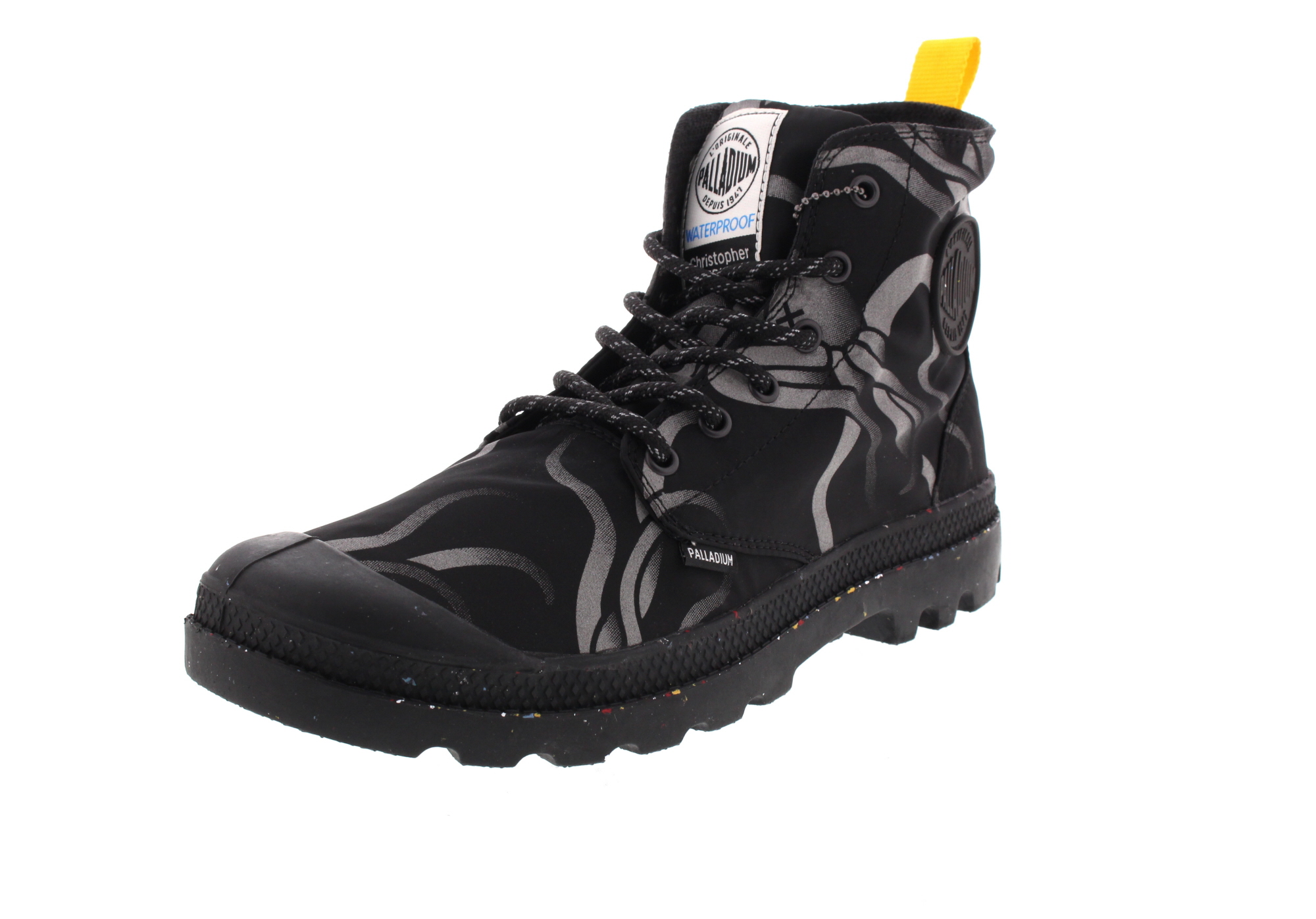 PALLADIUM - PAMPA HI NIGHT SQUID WATERPROOF - jet black0-6823