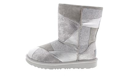 UGG Kinderschuhe CLASSIC SHORT II PATCHWORK BOOT silver preview 2