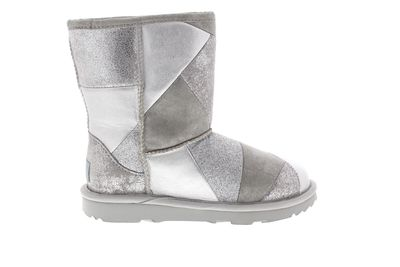 UGG Kinderschuhe CLASSIC SHORT II PATCHWORK BOOT silver preview 4